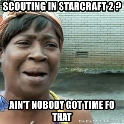 nobody got time fo dat - Scouting in Starcraft 2 ? Ain't nobody got time fo that
