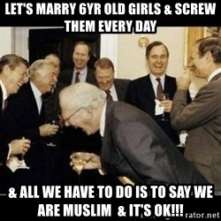 Laughing Professors - let's marry 6yr old girls & screw them every day & all we have to do is to say we are muslim  & it's OK!!!