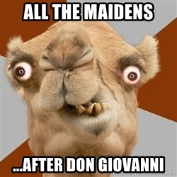 Crazy Camel lol - All the Maidens ...After Don Giovanni