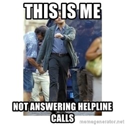 Leonardo DiCaprio Walking - This is me Not answering Helpline calls