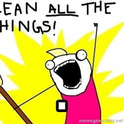 clean all the things -  .