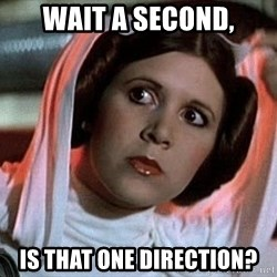 Star Wars Leia - wait a second, is that one direction?