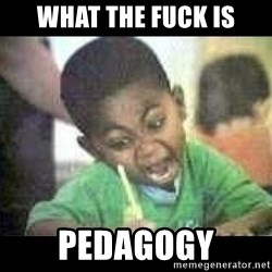 Black kid coloring - what the fuck is pedagogy