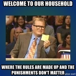 drew carey - Welcome to our household Where the rules are made up and the punishments don't matter