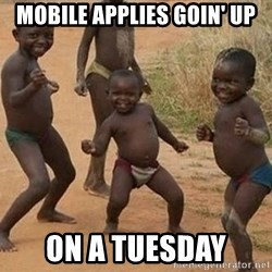Dancing African Kid - mobile applies goin' up on a tuesday