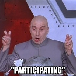 "Dr. Evil Air Quotes -  ""participating"""