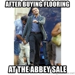 Leonardo DiCaprio Walking - After buying flooring At the abbey sale