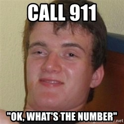"Stoner Guy - call 911 ""ok, what's the number"""