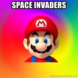 Mario Says - space invaders