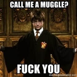 Harry Potter Come At Me Bro -  call me a muggle? Fuck you
