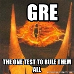Eye of Sauron -    GRE     the one test to rule them all