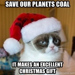 Grumpy Cat Santa Hat - save our planets coal it makes an excellent christmas gift