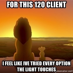 porcodioooooooooo - for this 120 client i feel like ive tried every option the light touches