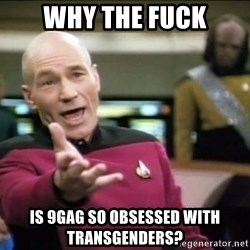 Why the fuck - why the fuck is 9gag so obsessed with transgenders?