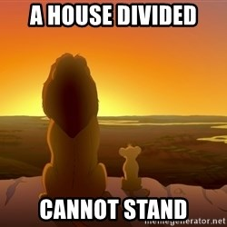 porcodioooooooooo - a house divided  cannot stand