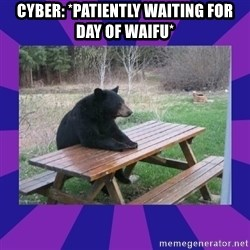 waiting bear - Cyber: *patiently waiting for day of waifu*