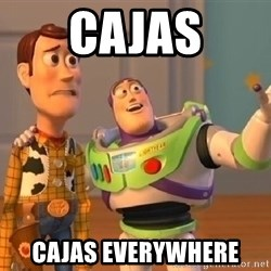 buzz lightyearr - cajas cajas everywhere