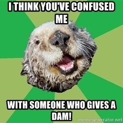 Ocd Otter - I think you've confused me With someone who gives a dam!