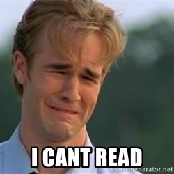 James Van Der Beek -  I CANT READ