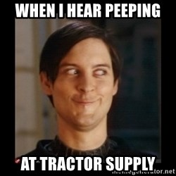 Tobey_Maguire - When I hear peeping at tractor supply