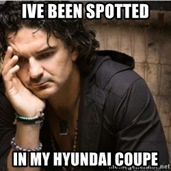 Ricardo Arjona - Ive been spotted In my hyundai coupe
