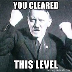 Successful Hitler - you cleared this level