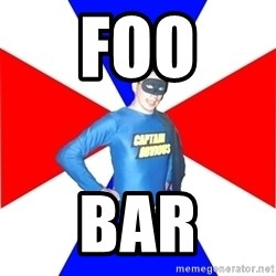 Captain-Obvious - foo bar