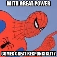 Spiderman - With great power comes great responsiblity