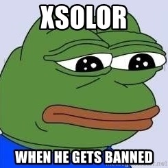 Sad Frog Color - xSolor When he gets banned