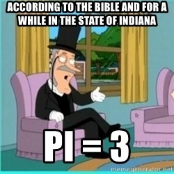 buzz killington - According to the Bible and for a while in the state of Indiana pi = 3