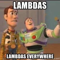 X, X Everywhere  - Lambdas LAMBDAS EVerywhere
