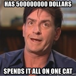 Sheen Derp - Has 500000000 dollars Spends it ALL on one cat
