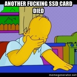 Homer Facepalm - another fucking ssd card died