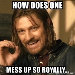 One does not simply HD - How does one mess up so royally...