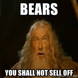Gandalf You Shall Not Pass - BEARS YOU SHALL NOT SELL OFF