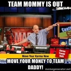 Mad Karma With Jim Cramer - Team Mommy is out move your money to team daddy!