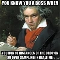 beethoven - You know you a boss when You run 10 instances of the drop on X8 over Sampling in realtime