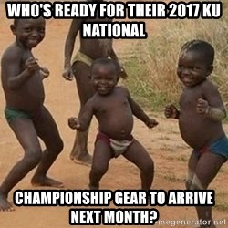 Dancing African Kid - Who's ready for their 2017 KU national  championship gear to arrive next month?