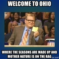 drew carey - Welcome to Ohio Where the seasons are made up and mother nature is on the rag
