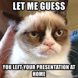 Grumpy Cat 2 - Let me guess  you left your presentation at home