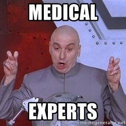 Dr. Evil Air Quotes - medical experts