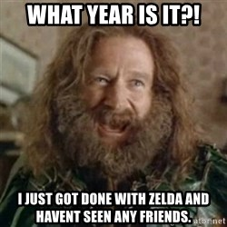 What Year - What Year is it?! I just got done with zelda and havent seen any friends.