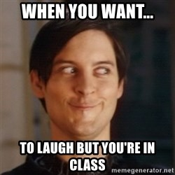 Peter Parker Spider Man - when you want... to laugh but you're in class