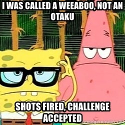Serious Spongebob - I was called a weeaboo, not an otaku shots fired, challenge accepted