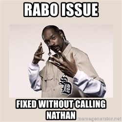 snoop dogg - Rabo issue fixed without calling nathan