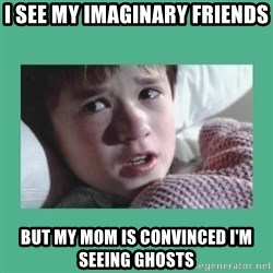 sixth sense - i see my imaginary friends but my mom is convinced i'm seeing ghosts