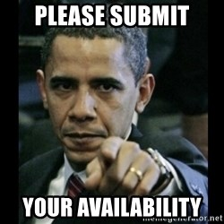obama pointing - please submit your availability