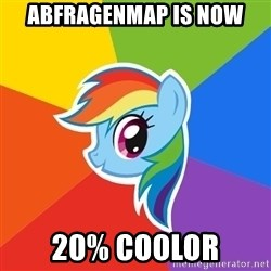 Rainbow Dash - AbfragenMap is now 20% coolor