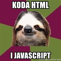 Just-Lazy-Sloth - KODA HTML I JAVASCRIPT