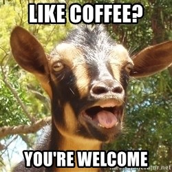 Illogical Goat - LIKE COFFEE? YOU'RE WELCOME